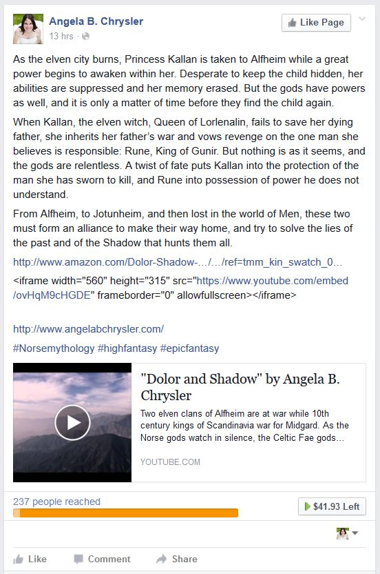 Dolor and Shadow Facebook Research